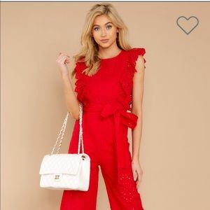 Red Dress Jumpsuit